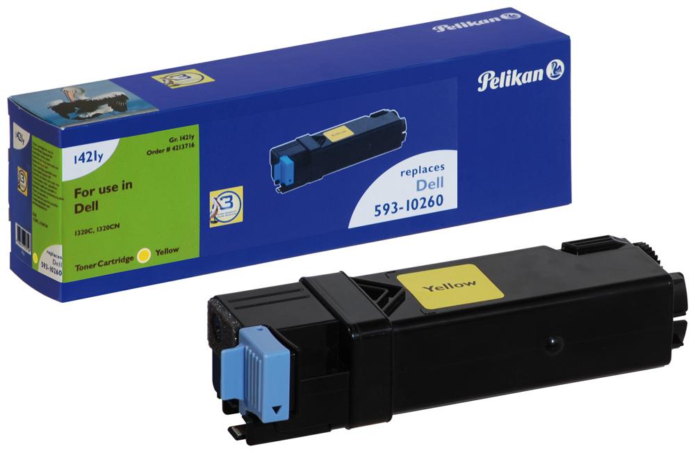 Pelikan Toner 1421y komp. zu 593-10260 Dell 1320C yellow