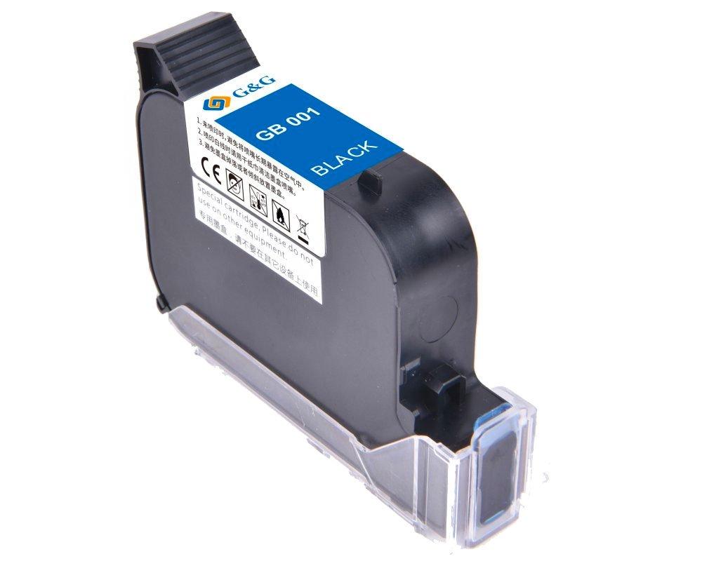 Druckerpatrone GB-001BK Schwarz permanent wasserfest für MP001-BPLUS