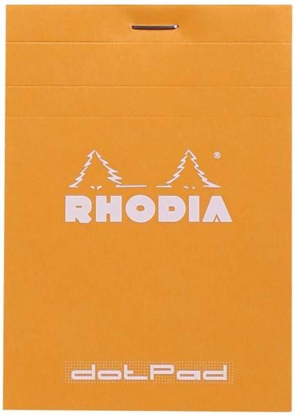 Rhodia 12558C DotPad (mit geometrischem Punktraster, liniert, dot grid, mikroperforiert, 80 g, 85 x