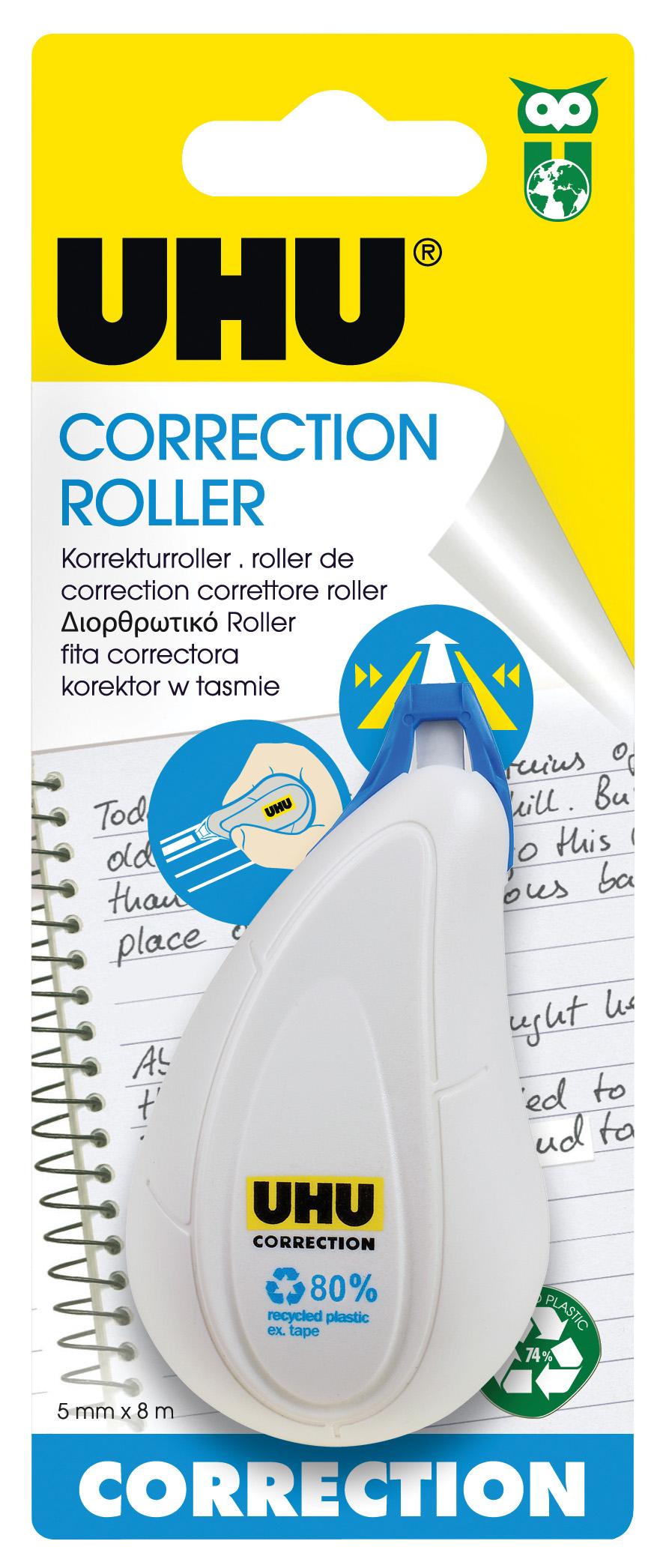 UHU Correction Roller Sideway Korrektur-Roller Infokarte 5mm x 8m