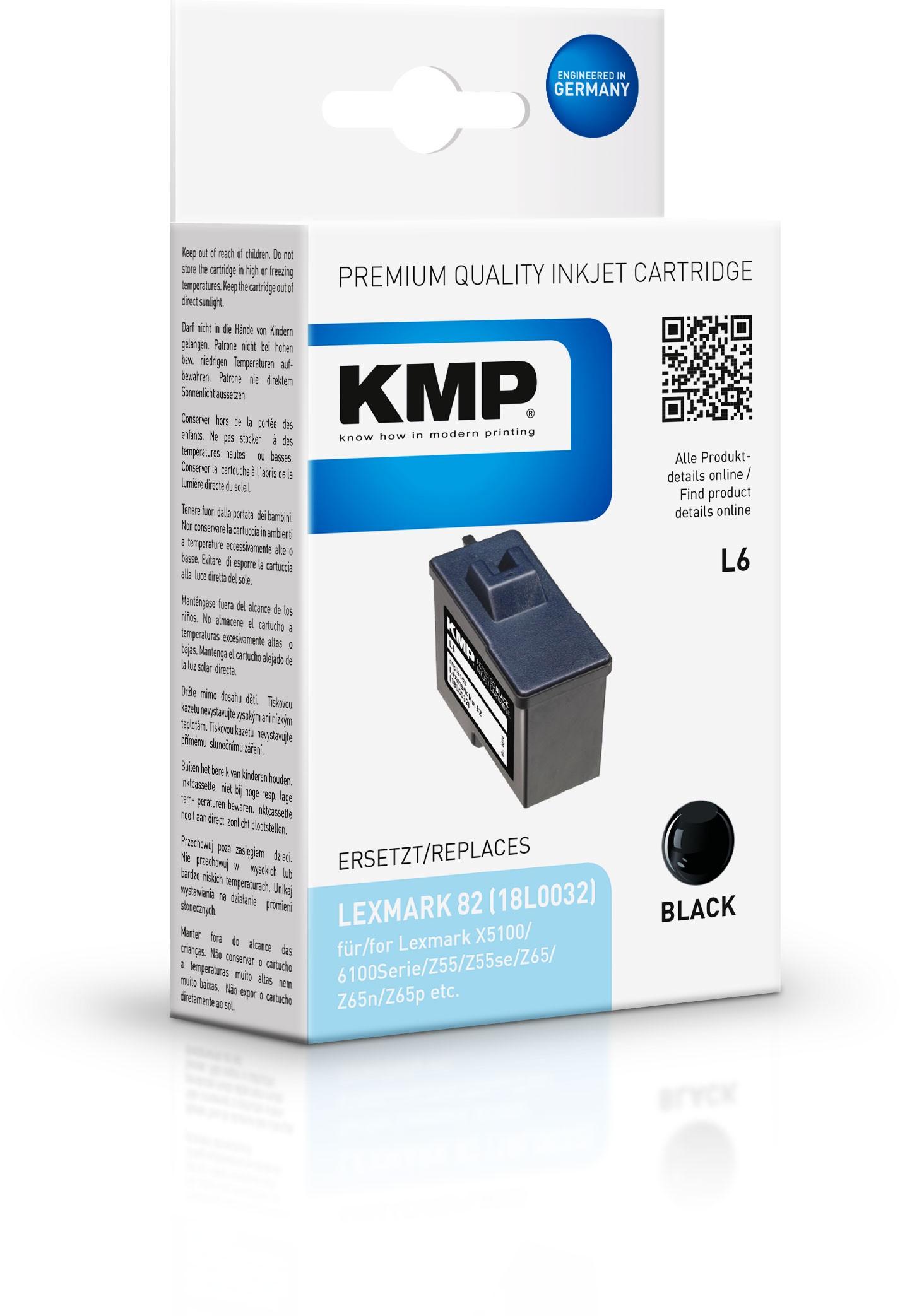 KMP Patrone L6 komp. zu Nr. 82 Lexmark X5100 X6100 schwarz