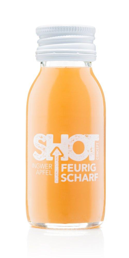 Shot Concept - Ingwershot - Feurig Scharf, 1x60ml Glasflasche
