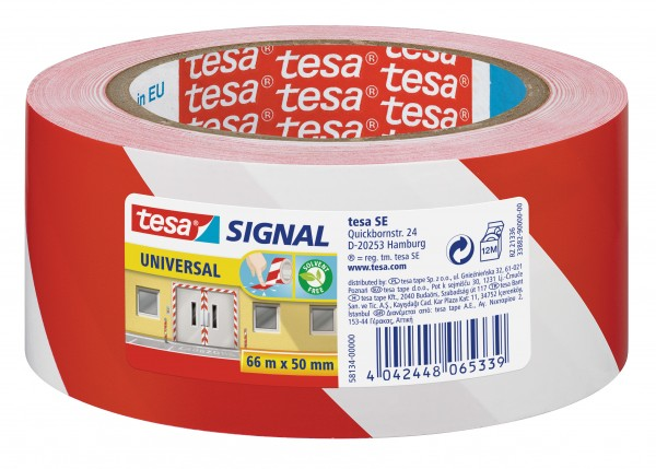 GP: 0,05 EUR/m tesa Signal Markierungsklebeband Universal rot / weiß