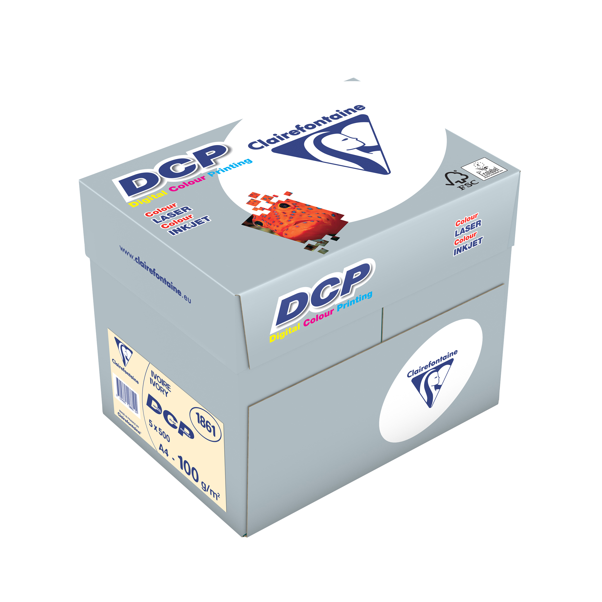 Clairefontaine DCP Ivory elfenbein digital color printing 100g/m² DIN-A4 2500 Blatt 1861C