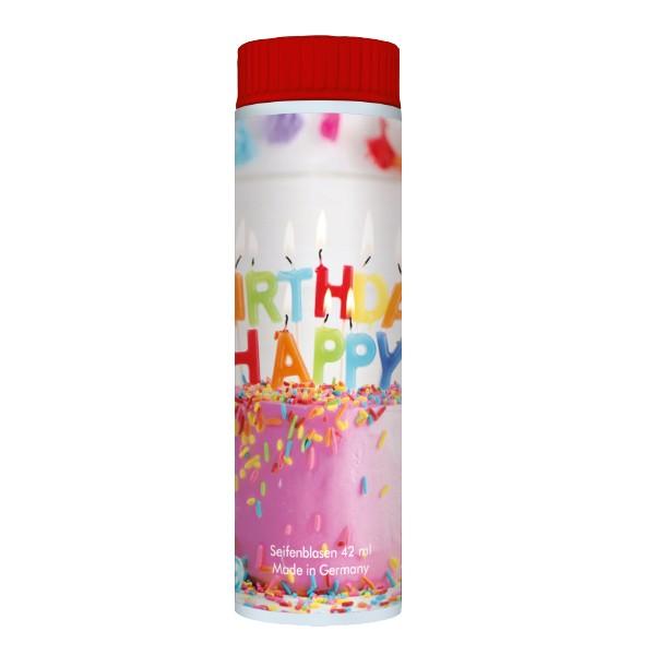 Pustefix - Kleinpackung - 42 ml - Seifenblasen - Geburtstag - 1 Stück - Bubbels - Happy Birthday - S