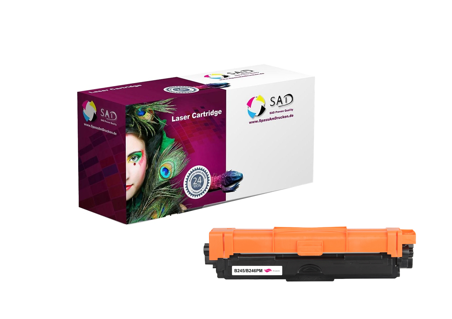 SAD Premium Toner komp. zu Brother TN-245M / TN-246M magenta ca. 2.200 Seiten