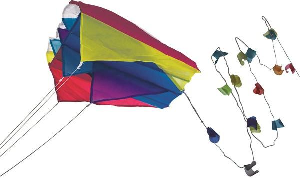 Paul Günther 1189 - Mini Parafoil blau, farbenprächtiger Drachen für die Hosentasche, mit lichtechte