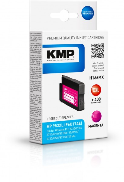 KMP Patrone H166MX für (F6U17AE) HP 953XL OfficeJet Pro 7700 Series OfficeJet Pro 8200 Series etc. m