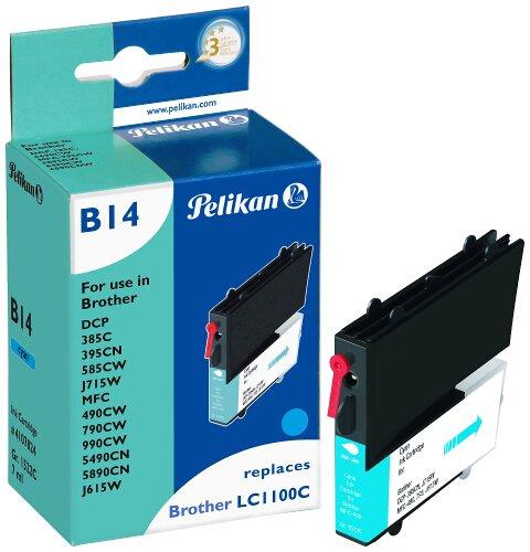 Pelikan Patrone B14 komp. zu LC1100c für Brother DCP-185C cyan