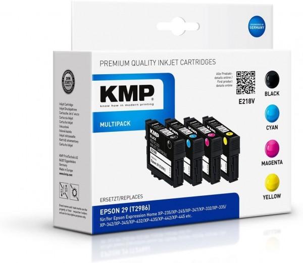 KMP Multipack E218V kompatibel mit Epson 29 (T2986) schwarz cyan magenta yellow