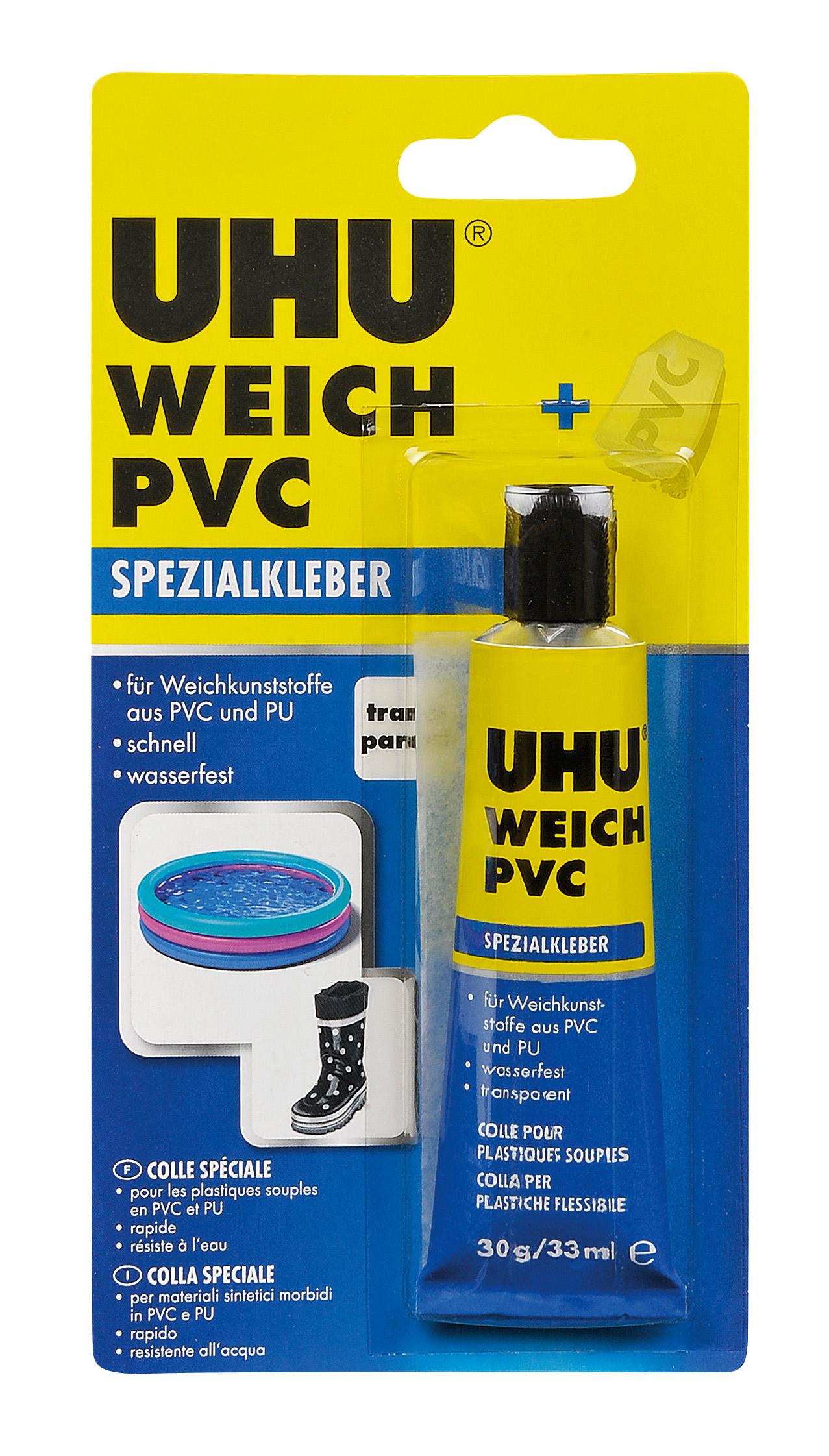UHU weich PVC 30g Tube Infokarte