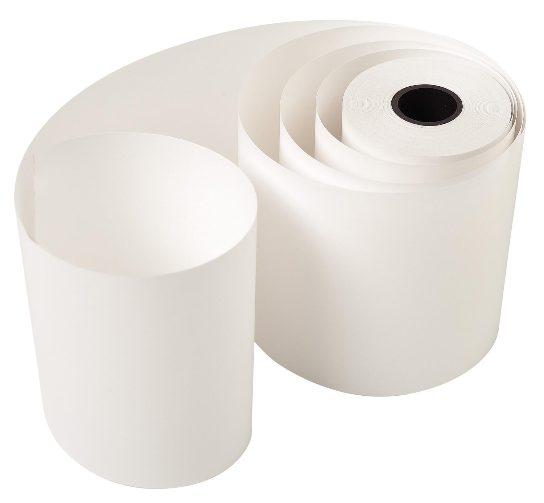 Rolle 2-lagig (Weiß, gelb) selbstdurchschreibendes Papier chemisch reagierend für Telex 57g/m²