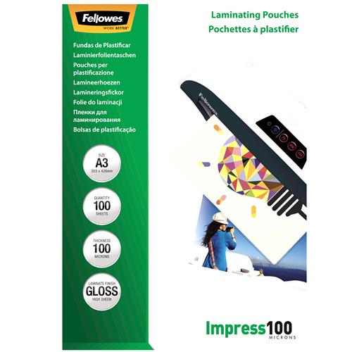 Fellowes Laminierfolien 100mic DIN-A3 - 100 Folien