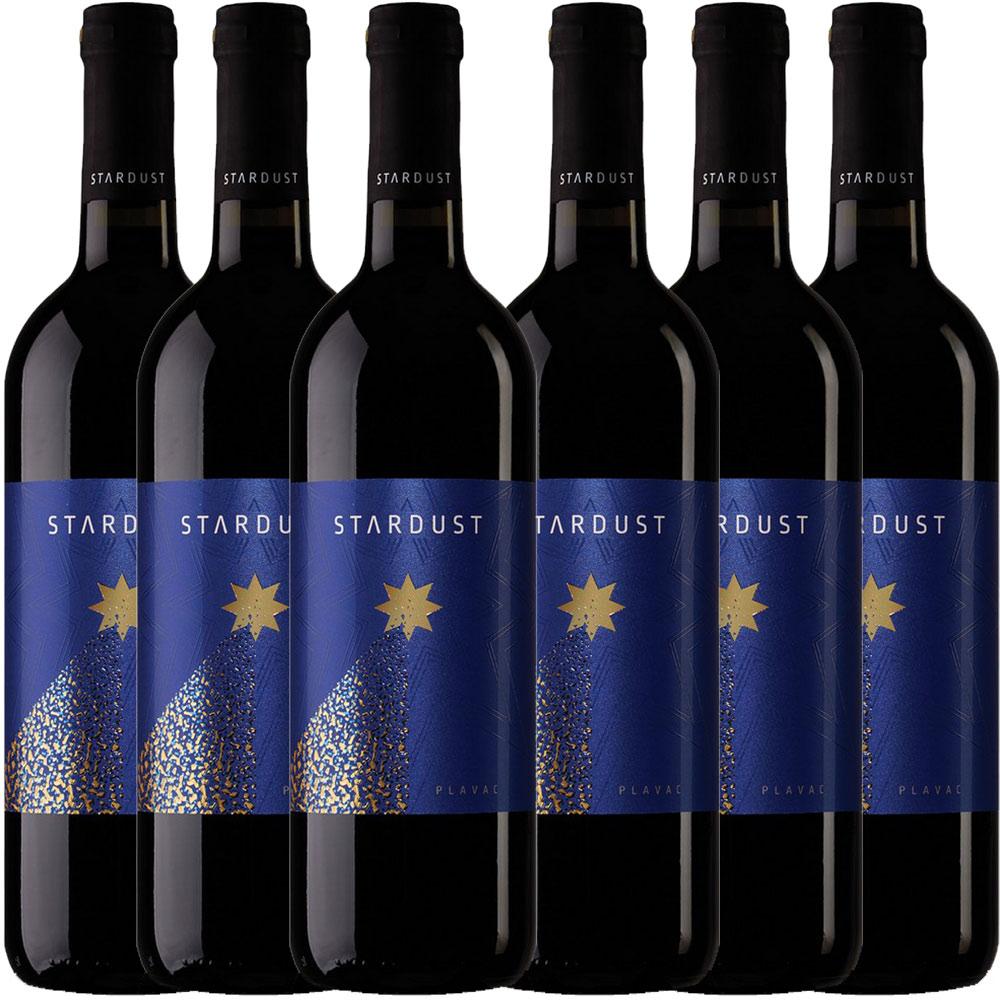 6x 0,75L Flaschen STARDUST Plavac Rotwein trocken Mazedonien 2015 - 12,6% - 5,55€/L
