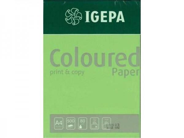 Igepa Coloured Paper Intensiv maigrün 80g/m² DIN-A4 - 500 Blatt