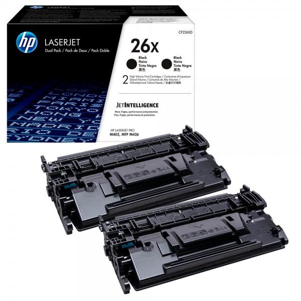 HP 26X - CF226XD Multipack Original Toner (2x Schwarz) mit hoher Reichweite für HP Laserjet Pro M402