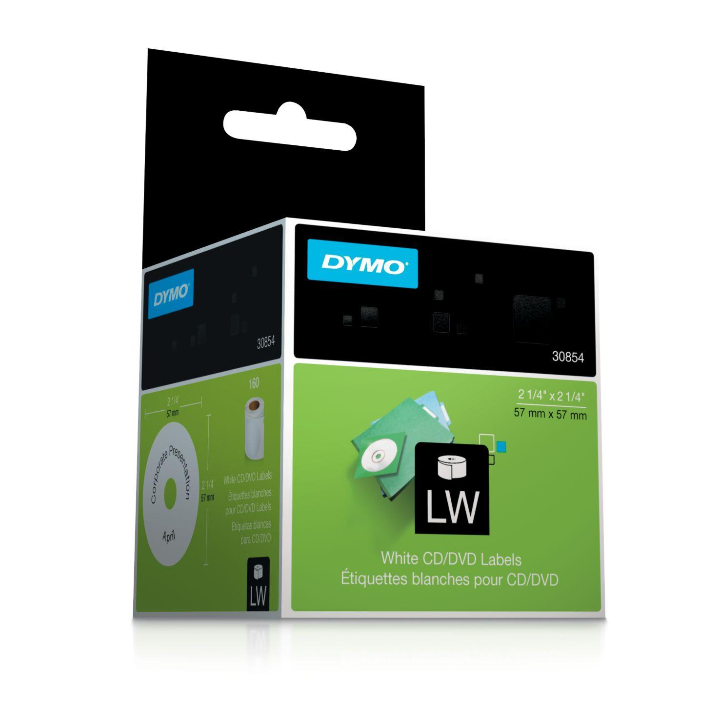 Dymo Label Writer-CD/DVD Etiketten Durchmesser: 57 mm weiß