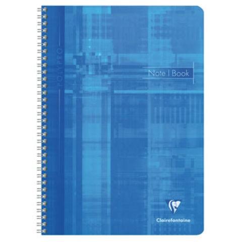 5 x Clairefontaine Spiralblock DIN-A4 180 Seiten 90 Blätter Kariert