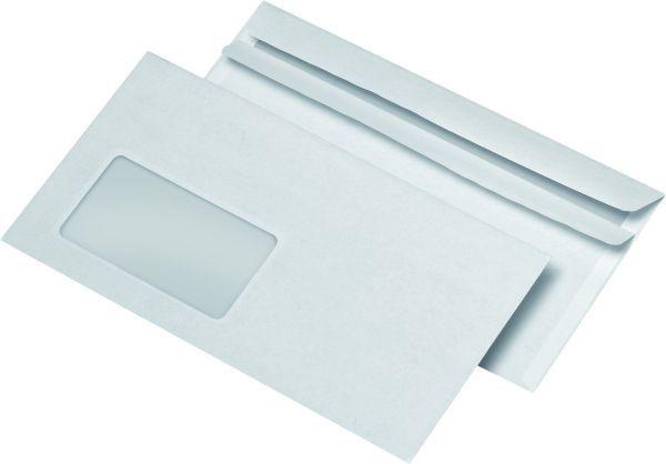 Elepa - rössler kuvert Briefumschläge DIN lang (220x110 mm), mit Fenster, selbstklebend, 72 g/qm, 1.