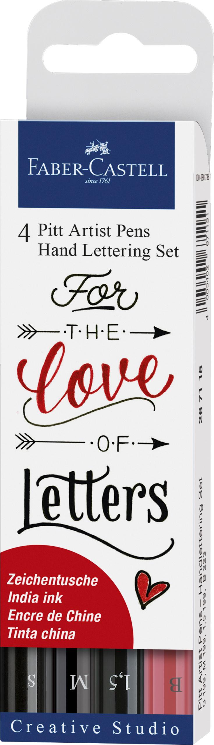 Farber-Castell Pitt Artist Pen Handlettering 4er Etui #Lettering