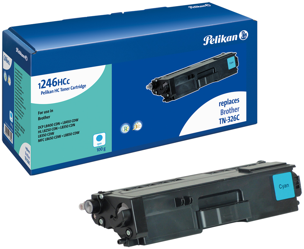 Pelikan Toner komp. zu TN-326C Brother DCP-L8400 CDN etc. cyan