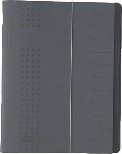 Elba Ordnungsmappe chic, Karton (RC), 450 g/qm, A4, 12 Fächer, anthrazit