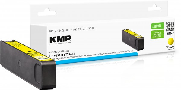 KMP H164Y gelb Tintenpatrone ersetzt HP OfficeJet Pro HP913XL (F6T79AE)