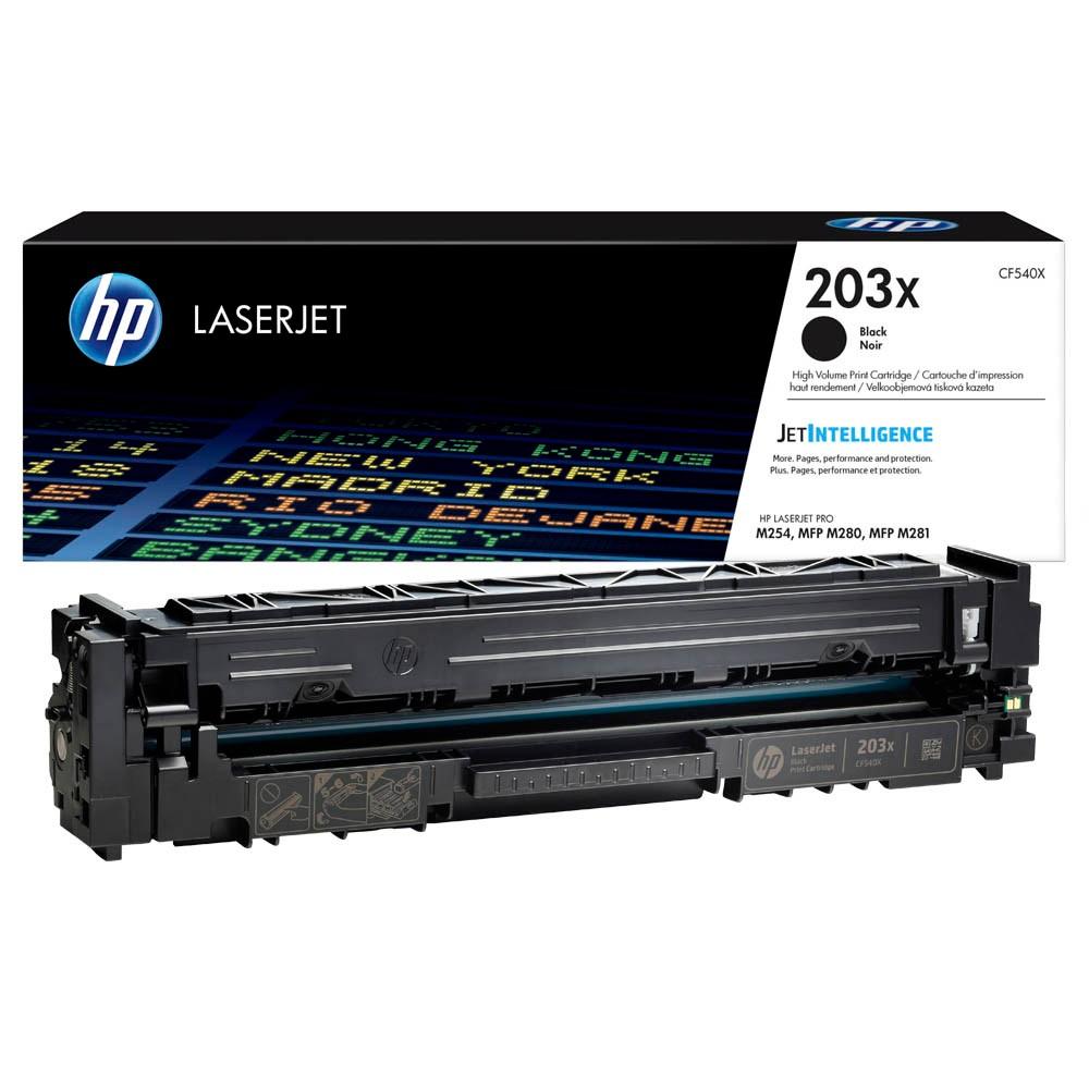 Original HP 203X (CF540X) schwarz Tonerkartusche für LaserJet Pro M254, HP LaserJet Pro M280, HP Las