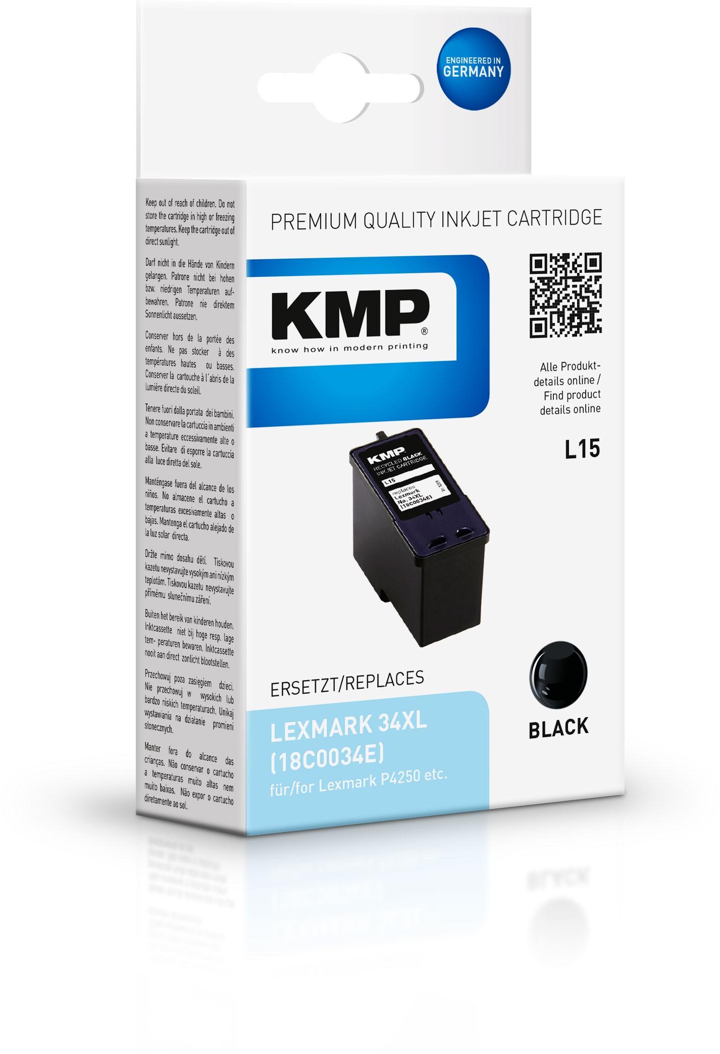 KMP Patrone L15 komp. 18C0034 Lexmark P4250/4310/4330 schwarz