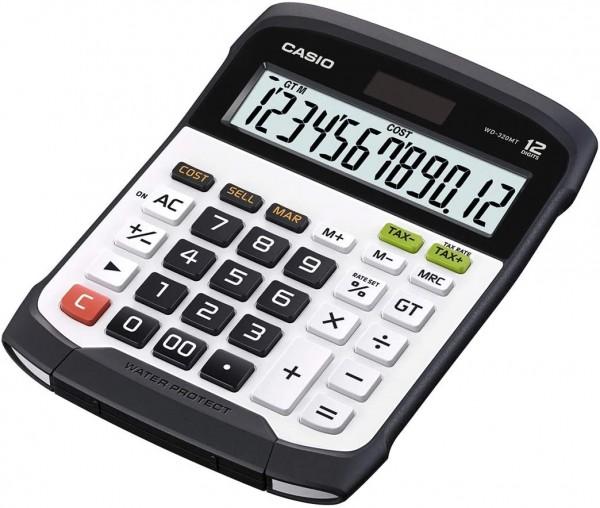 CASIO WD-320MT Tischrechner groß spritzwasser-/staubgeschützt, Tastatur abnehmbar + waschbar