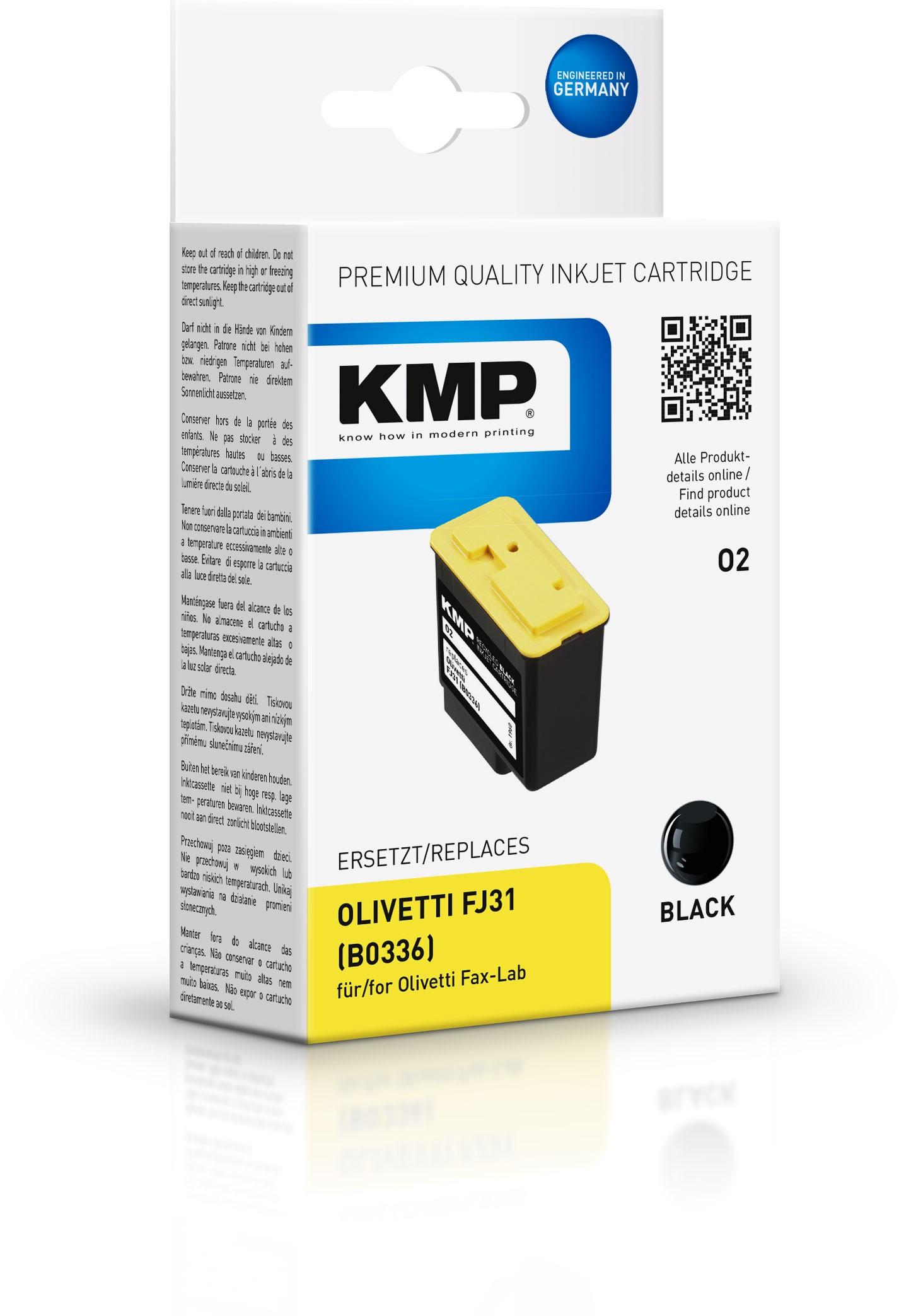 KMP Patrone O2 komp. zu FJ31 Olivetti Fax-Lab 100 120 schwarz