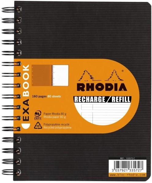 Rhodia 133576C SpiralBlock (DIN A5, 16x21 cm, liniert, ideal für Ihre Notizen, 80 Blatt) 1 Stück sch