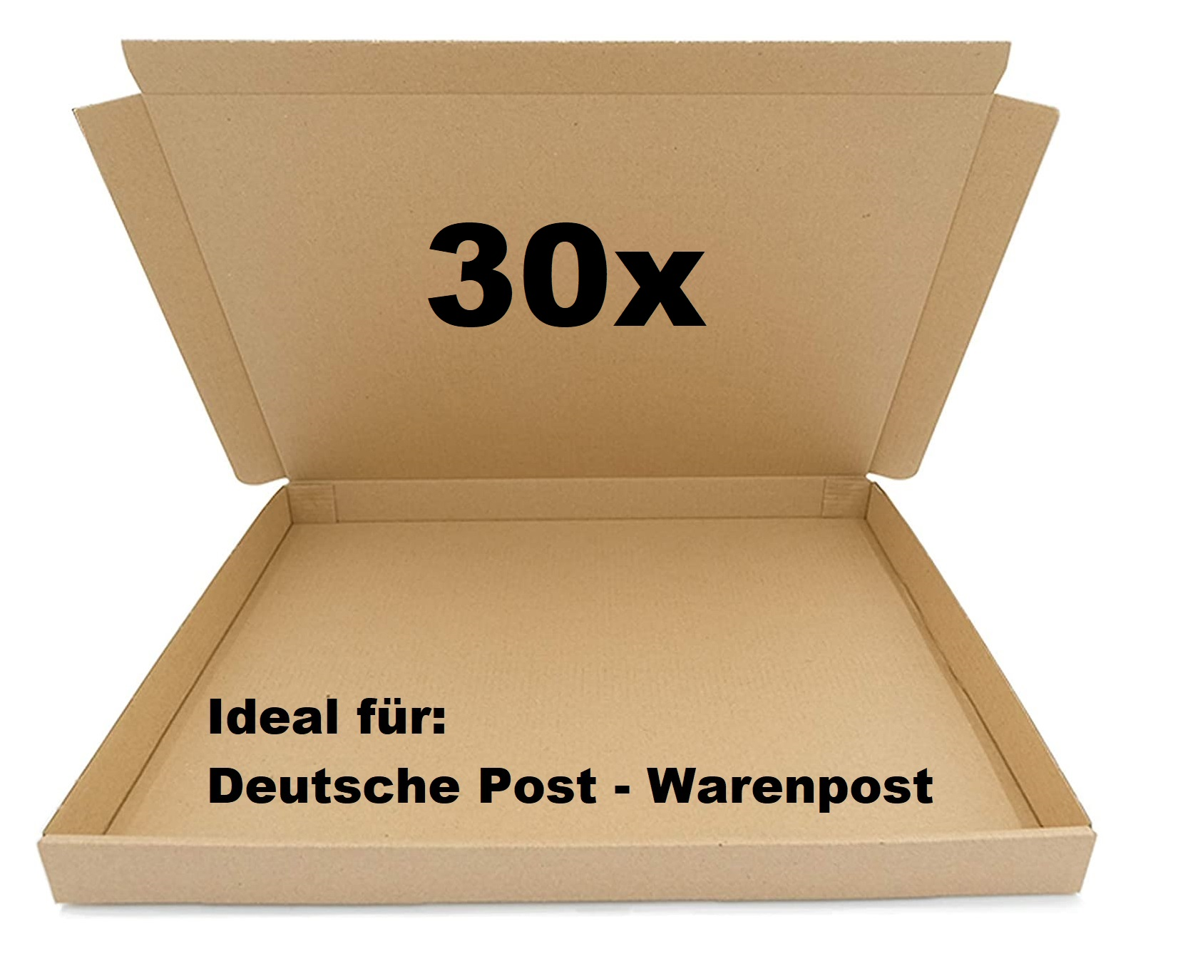 30x SAD Warenpostkartons 350x250x30mm Karton für Warenpost International XS geeignet - DIN A4 Format