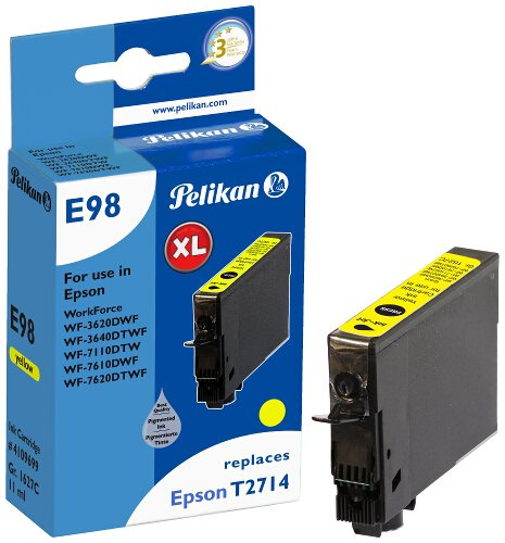 Pelikan Patrone E98 komp. zu Epson T2714 WF-3620DWF etc. yellow