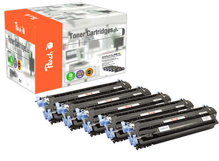Peach Spar Pack Plus Tonermodule kompatibel zu HP No. 124A