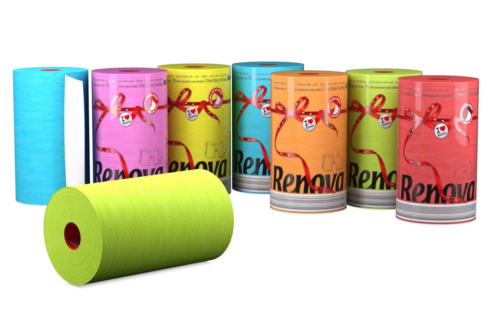 RENOVA Haushaltsrolle / Küchenrolle XXL 120 Blatt in versch. Farben