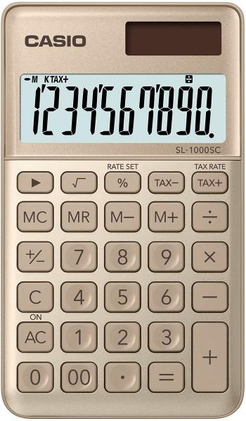 CASIO SL-1000SC-GD stylischer Taschenrechner, 10-stellig, GOLD