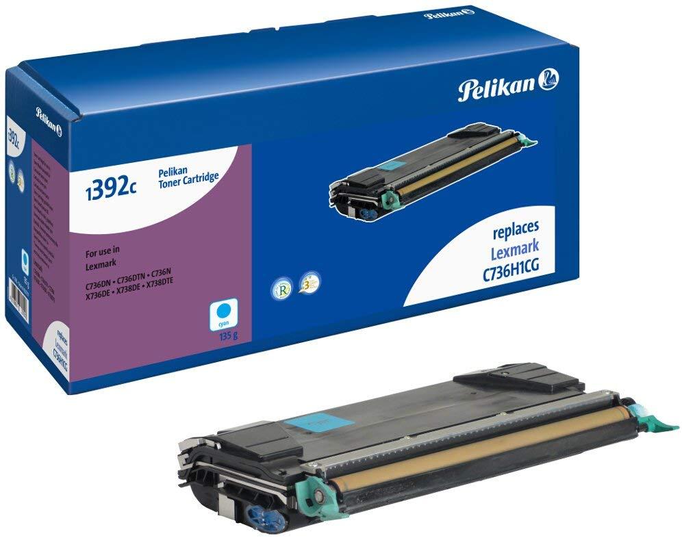 Pelikan Toner ersetzt Lexmark C736H1CG, Cyan, 10000 Seiten