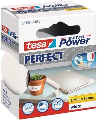 tesa Extra Power Perfect Gewebeband weiß 2,75m:38mm