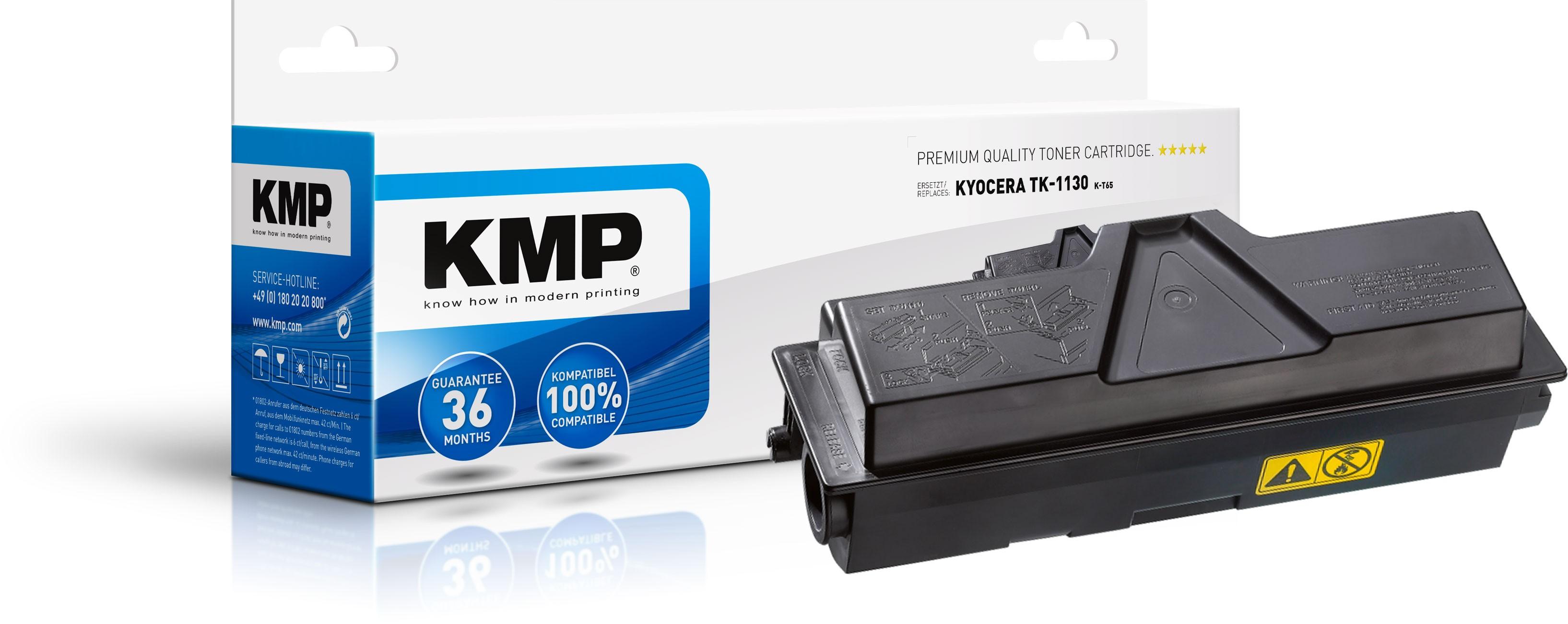 KMP Toner K-T65 für Kyocera TK-1130 FS-1030MFP etc. black