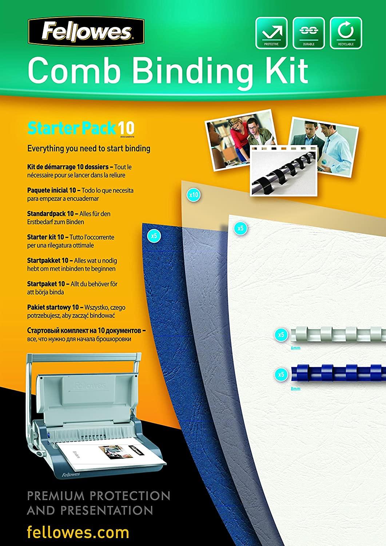 Fellowes Plastikbindung - Starter Kit 5371701 für 10 Dokumente