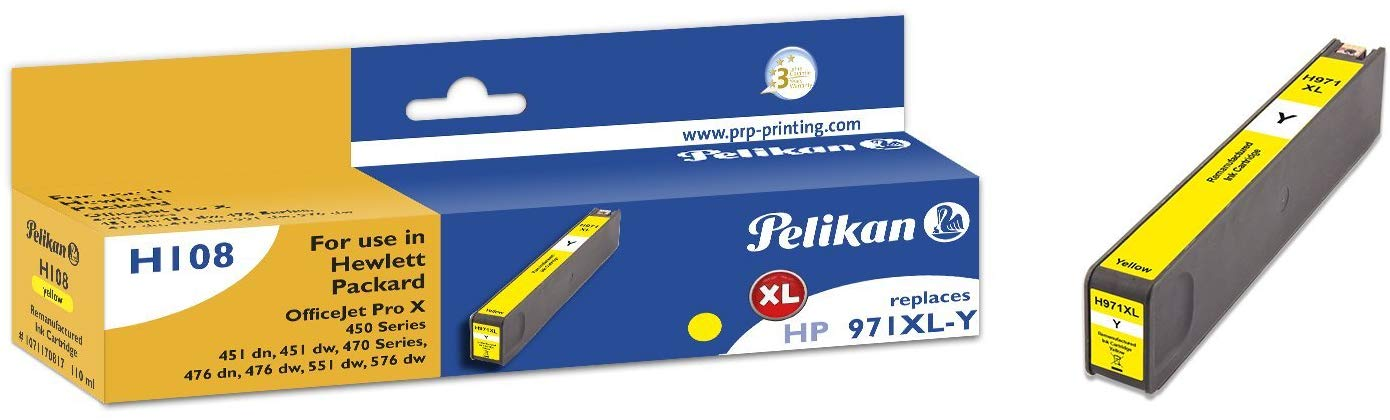 Pelikan Tintenpatrone ersetzt HP CN628AE, Yellow, 6600 Seiten