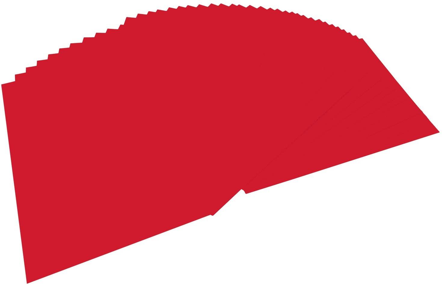 folia 6420 - Tonpapier hochrot, DIN A4, 130 g/qm, 100 Blatt - zum Basteln und kreativen Gestalten vo