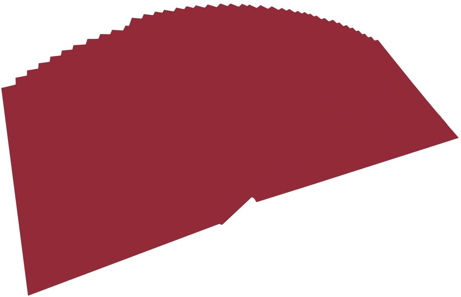 folia 6422 - Tonpapier dunkelrot, DIN A4, 130 g/qm, 100 Blatt - zum Basteln und kreativen Gestalten