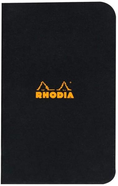 Rhodia 119159C Heft (kariert, 7,5 x 12 cm, 24 Blatt) 1 Stück schwarz