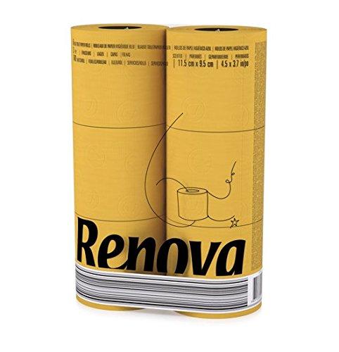 RENOVA Gelbs Toilettenpapier - GELB in Folie 6 Rollen