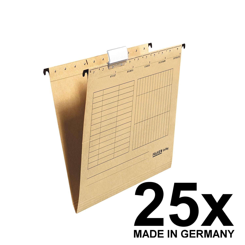 25x Falken Hängetasche 80004328 UniReg, braun 230g/m²-Kraftkarton, seitlich offen