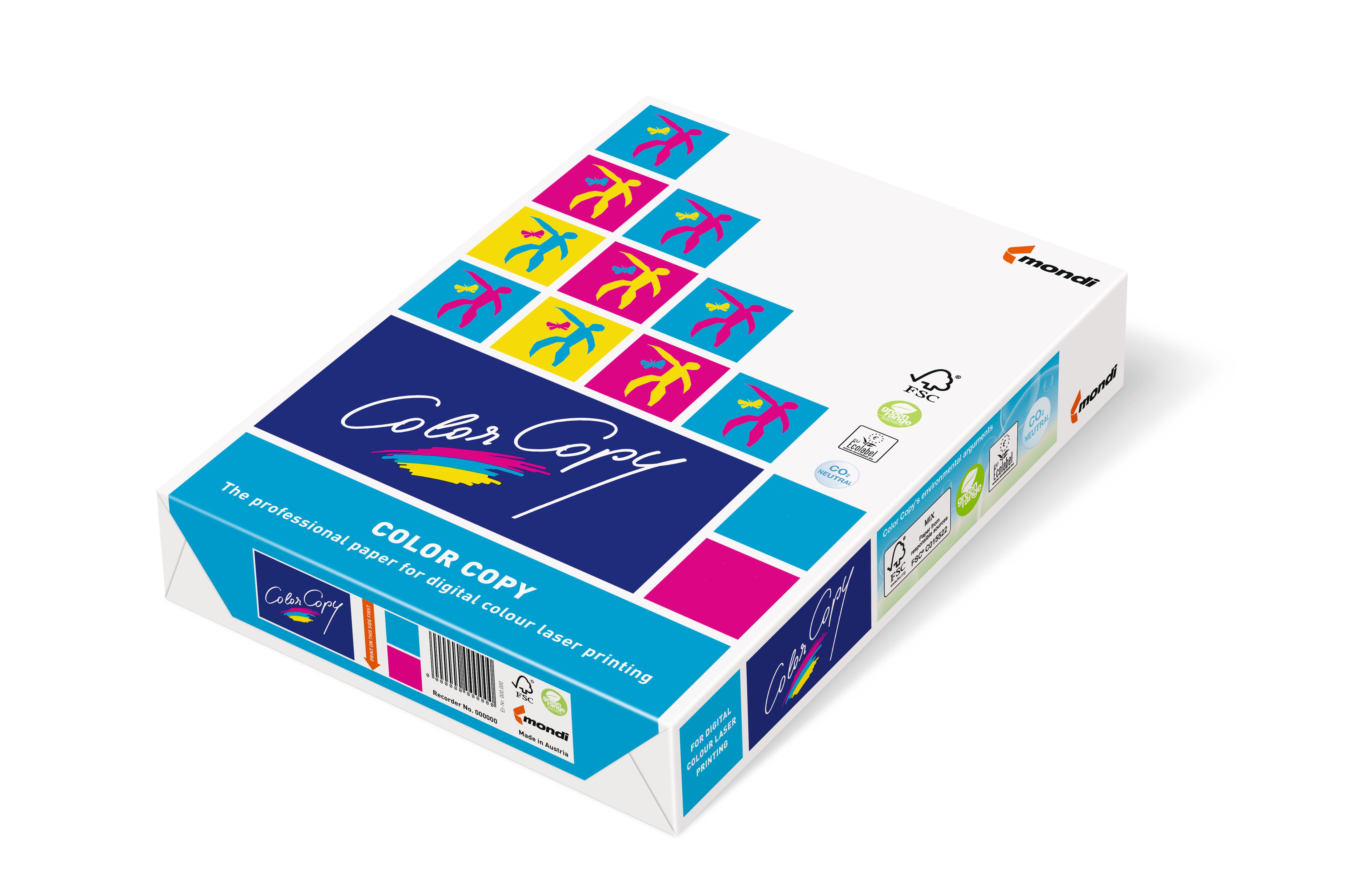 Vorschau: Mondi Color Copy Papier 90g/m² DIN-A4 - 500 Blatt weiß