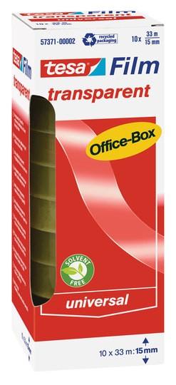 tesa transparent Office-Box 33m x 15mm 10 Rollen