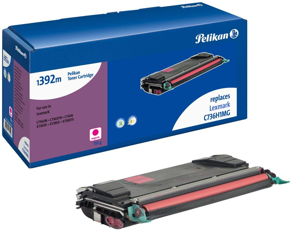 Pelikan Toner ersetzt Lexmark C736H1MG, Magenta, 10000 Seiten
